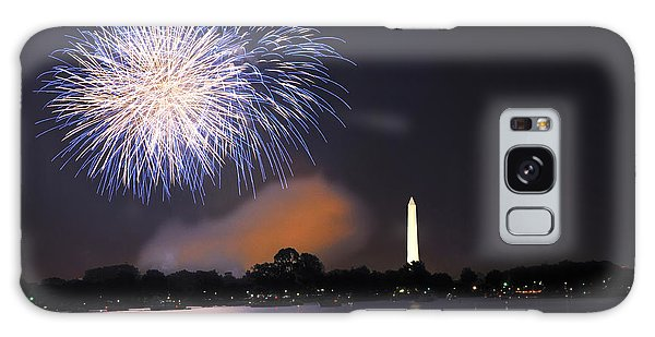 Blue And White O'er Washington D.c. Galaxy Case