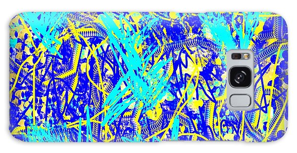 Blue And Yellow Abstract Galaxy Case by Jessica Wright