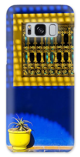 Blue And Yellow Patterns Galaxy Case