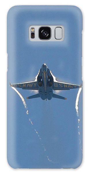 Blue Angels Ghost Appears Head-on Over Pensacola Beach Galaxy Case by Jeff at JSJ Photography