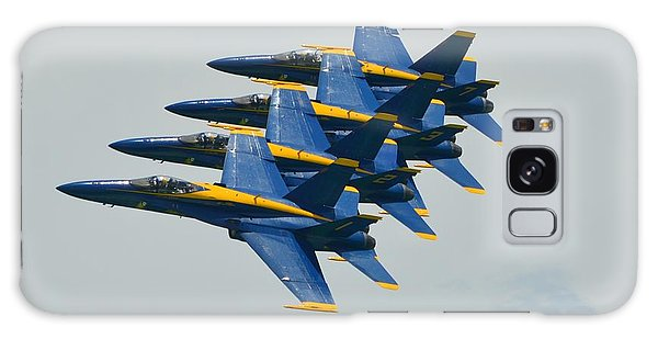 Blue Angels Practice Echelon Formation Galaxy Case by Jeff at JSJ Photography