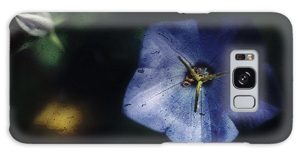 Blue Balloon Flower In The Shadows Galaxy Case by Louise Kumpf