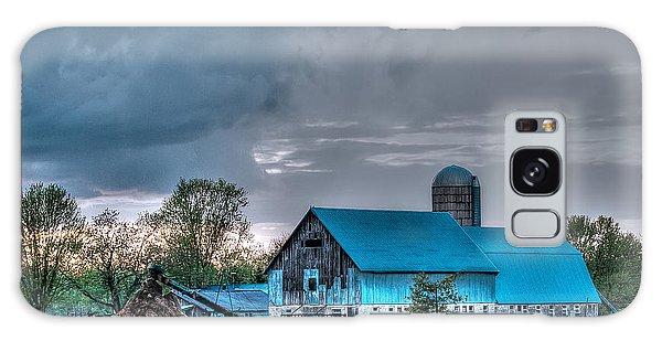 Blue Barn Galaxy Case by Bianca Nadeau