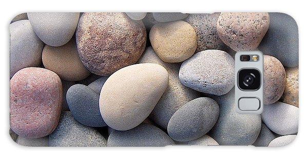 Blue Beach Stones Galaxy Case by Kathi Mirto