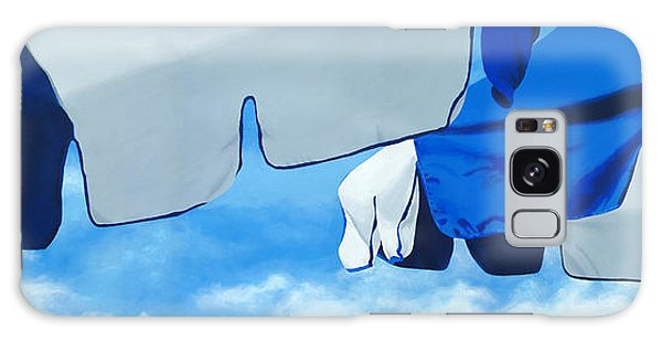 Blue Beach Umbrellas 2 Galaxy Case