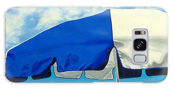 Blue Beach Umbrellas 1 Galaxy Case