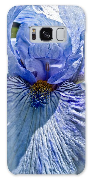 Blue Bearded Iris Galaxy Case