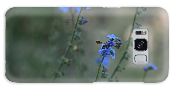 Blue Bee Galaxy Case by Tamera James
