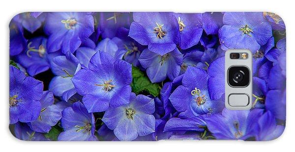 Framing Galaxy Case - Blue Bells Carpet. Amsterdam Floral Market by Jenny Rainbow