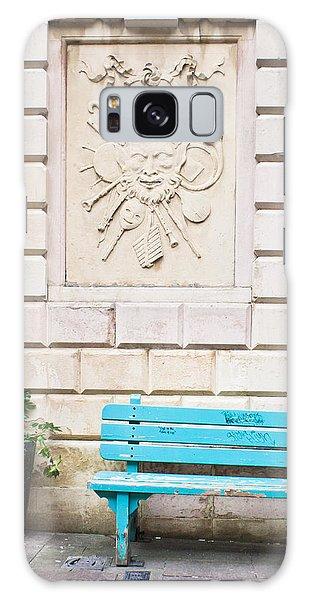 Bury St Edmunds Galaxy Case - Blue Bench by Tom Gowanlock