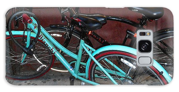 Blue Bianchi Bike Galaxy Case by Joan Reese
