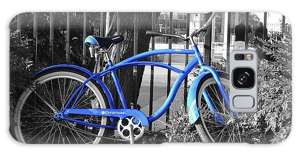 Blue Bike Galaxy Case by Alex King