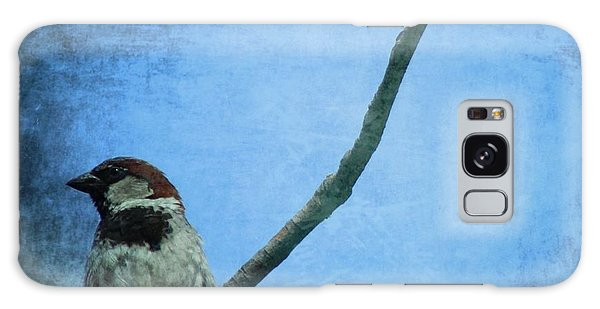 Sparrow On Blue Galaxy Case