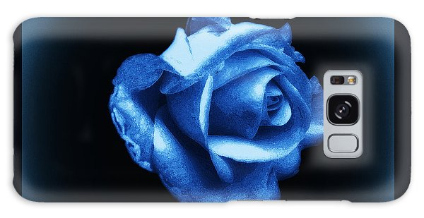 Blue Blue Rose Galaxy Case