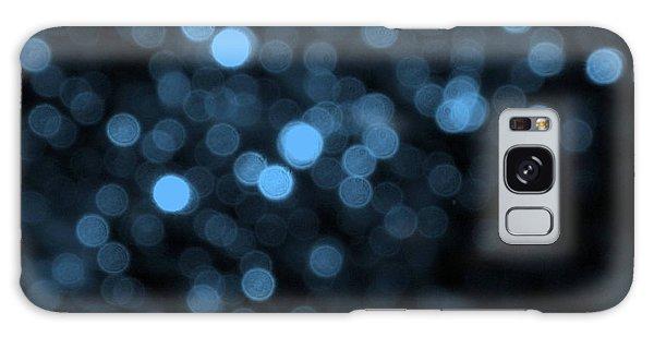 Blue Bokeh Galaxy Case