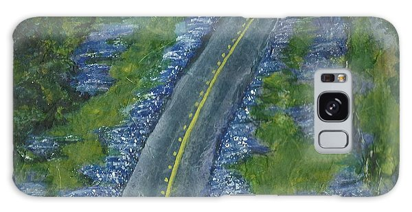 Blue Bonnet Road Galaxy Case by Lynn Babineau