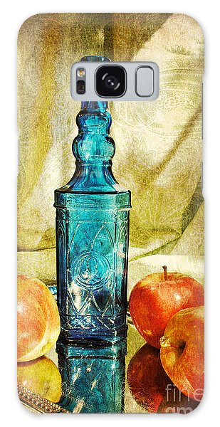 Blue Bottle With Apples Galaxy Case