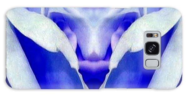 Blue Boy Flower Galaxy Case