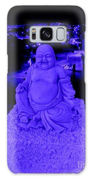 Blue Buddha And The Blue City Galaxy Case by Linda Prewer