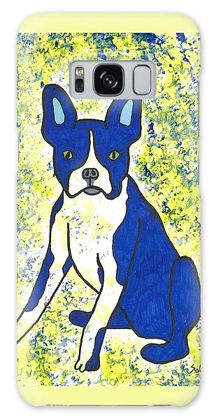 Blue Bulldog Galaxy Case by Susie Weber