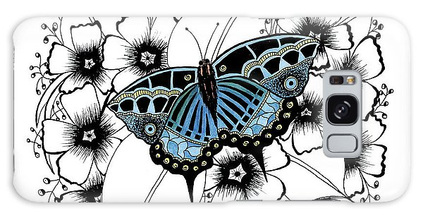 Blue Butterfly Galaxy Case