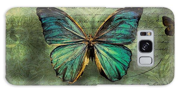 Blue Butterfly Galaxy Case