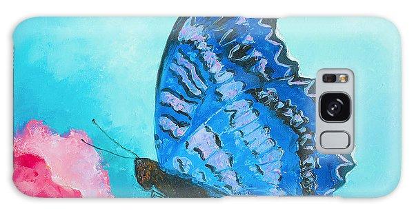 Iridescent Galaxy Case - Blue Butterfly by Jan Matson