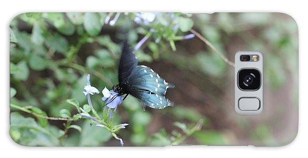 Blue Butterfly On Purple Flower Galaxy Case