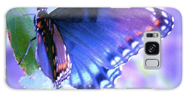 Blue Butterfly Galaxy Case by Shirley Moravec