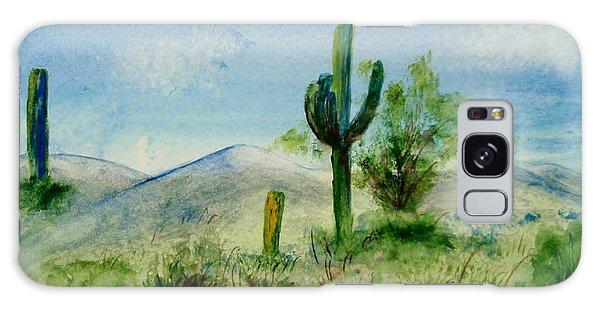 Blue Cactus Galaxy Case by Jamie Frier