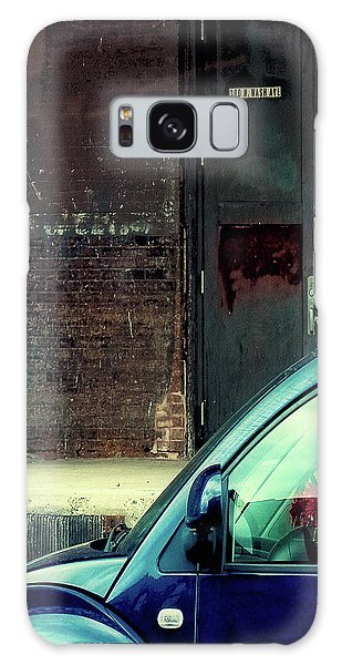 Blue Car On Washington Avenue In Minneapolis Galaxy Case by Susan Stone
