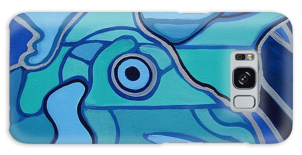 Blue Chicken Abstract Galaxy Case
