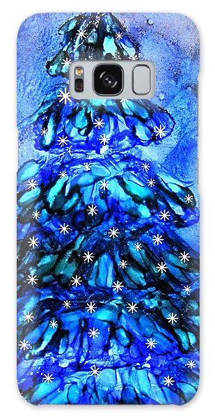 Blue Christmas Tree Alcohol Inks  Galaxy Case
