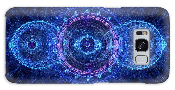 Blue Circle Fractal Galaxy Case