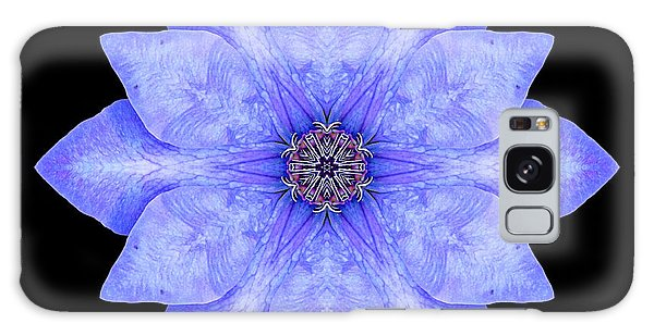 Blue Clematis Flower Mandala Galaxy Case