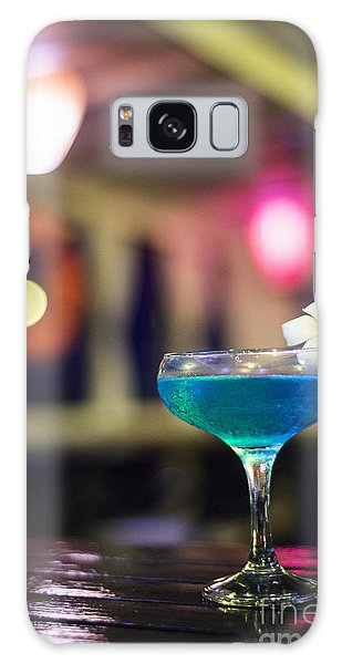 Blue Cocktail Drink In Dark Bar Interior Galaxy Case