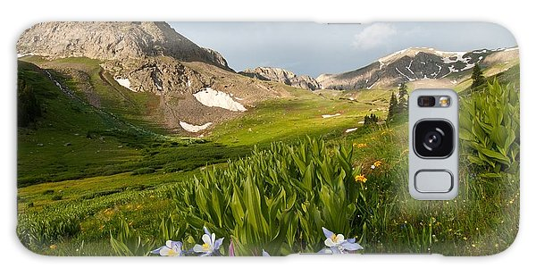 Handie's Peak And Blue Columbine On A Summer Morning Galaxy Case