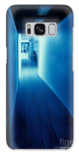 Blue Corridor Galaxy Case