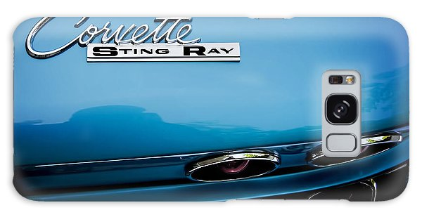 Blue Corvette Sting Ray Rear Emblem Galaxy Case