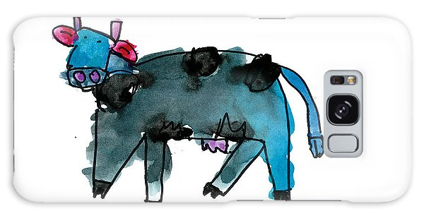 Blue Cow Galaxy Case