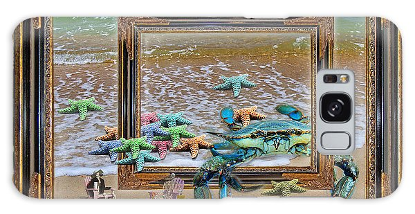 Time Frame Galaxy Case - Blue Crab Stars by Betsy Knapp