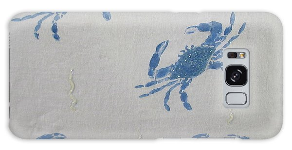 Blue Crabs On Sand Galaxy Case