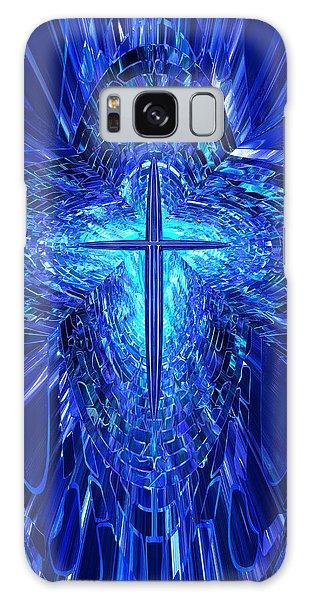 Blue Cross Galaxy Case