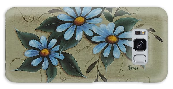 Blue Daisies Galaxy Case