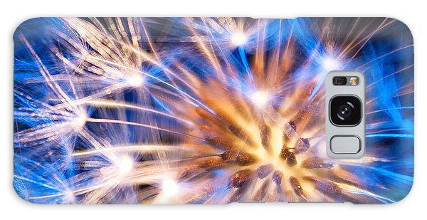 Blue Dandelion Up Close Galaxy Case by Todd Soderstrom
