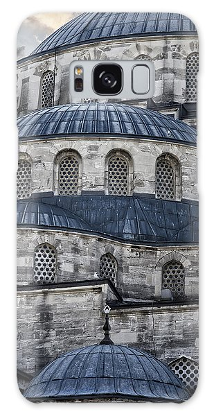 Galaxy Case featuring the photograph Blue Dawn Blue Mosque by Joan Carroll