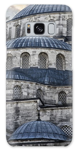 Blue Dawn Blue Mosque Galaxy Case by Joan Carroll