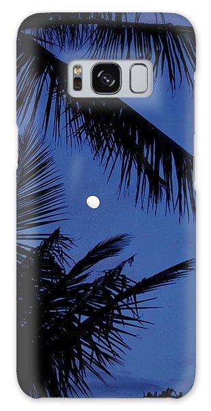 Blue Dawn Moon Galaxy Case by Lehua Pekelo-Stearns