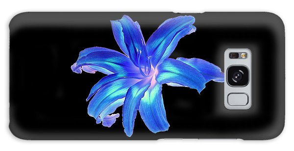 Blue Day Lily #2 Galaxy Case