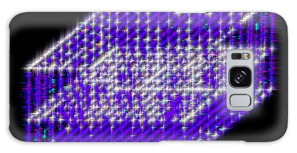 Blue Diamond Grid Galaxy Case